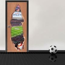 Vinilos puertas 3d estadio wanda metropolitano atlético de madrid