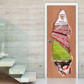 Vinilos puertas 3d estadio de fútbol ramón sánchez-pizjuán