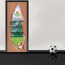 Vinilos puertas 3d estadio de fútbol benito villamarín real betis balompié