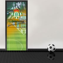 Vinilos puertas estadio de fútbol benito villamarín real betis balompié