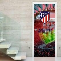 Vinilos para puertas estadio wanda metropolitano atlético de madrid