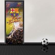Vinilos para puertas estadio camp nou barcelona