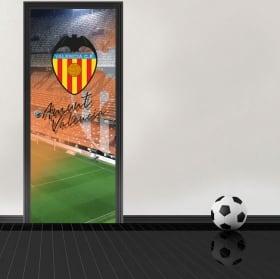 Vinilos para puertas estadio mestalla valencia club de fútbol