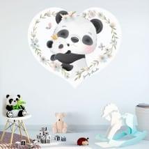 Vinilos decorativos y pegatinas infantiles osos panda