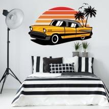 Vinilos decorativos y pegatinas coche estilo retro