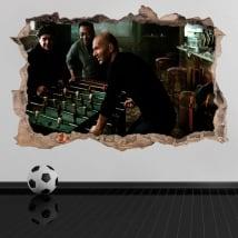 Pegatinas de vinilos 3d fútbol maradona con pelé y zidane