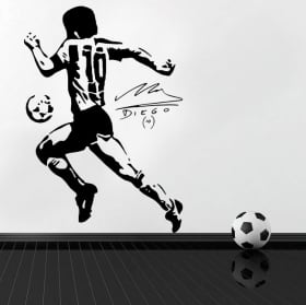 Pegatinas de vinilos fútbol maradona