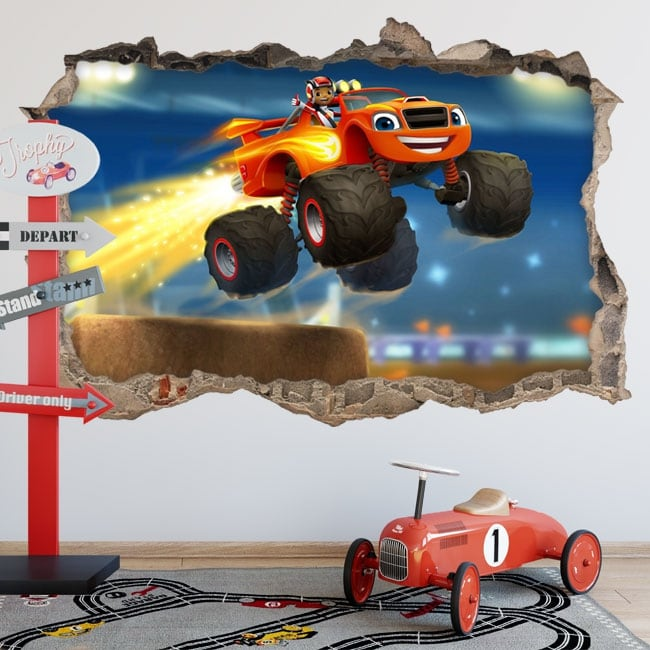 Pegatinas 3d blaze and the monster machines