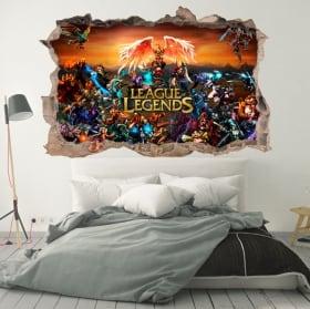 Vinilos decorativos league of legends 3d
