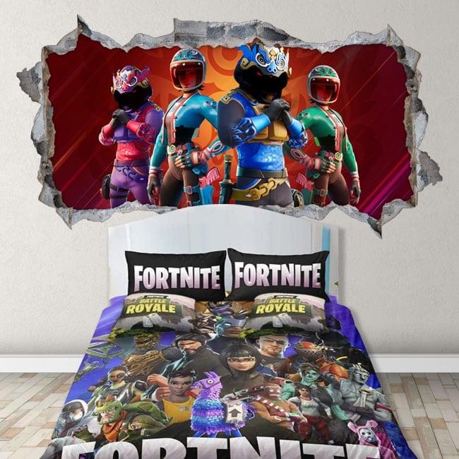 Vinilos decorativos paredes videojuego fortnite 3d