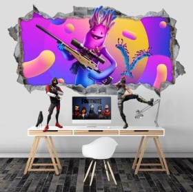 Vinilos agujero videojuego fortnite 3d