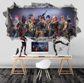 Vinilos y pegatinas agujero videojuego fortnite 3d
