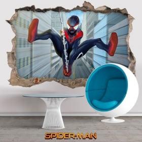Vinilos y pegatinas 3d miles morales spider-man