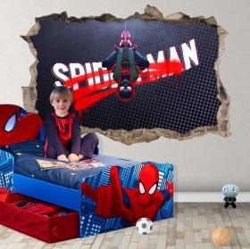 Vinilos y pegatinas agujero 3d miles morales spider-man