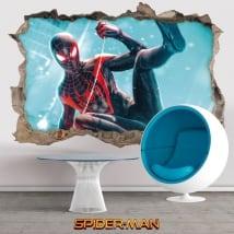 Vinilos decorativos 3d miles morales spider-man