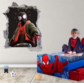 Vinilos adhesivos miles morales spider-man 3d