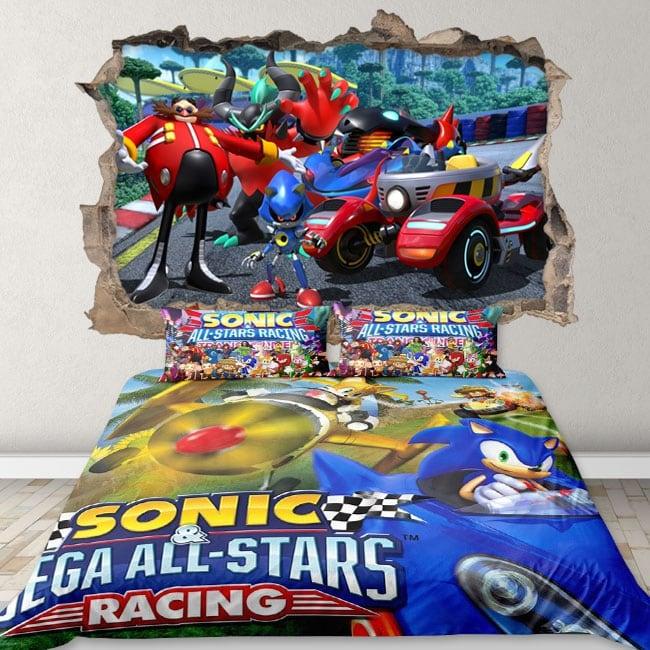 Vinilos y pegatinas 3d team sonic racing