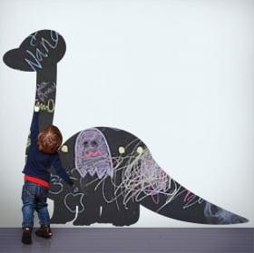Vinilos pizarra negra dinosaurio