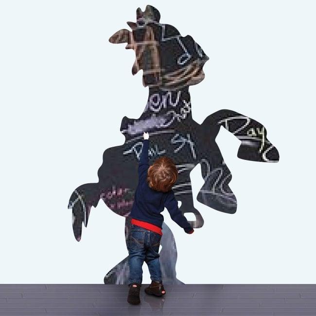 Vinilos pizarra negra perdigón caballo toy story