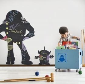 Vinilos pizarra negra buzz lightyear y marciano toy story