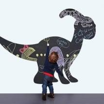 Vinilos infantiles pizarra negra dinosaurio