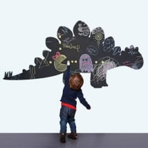 Vinilos decorativos infantiles pizarra negra dinosaurio