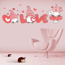 Vinilos y pegatinas románticas gnomo love