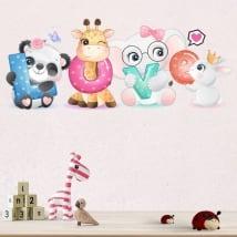 Vinilos y pegatinas paredes animales love