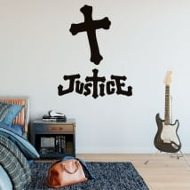 Vinilos y pegatinas banda de música justice