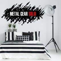 Vinilos decorativos y pegatinas videojuego metal gear
