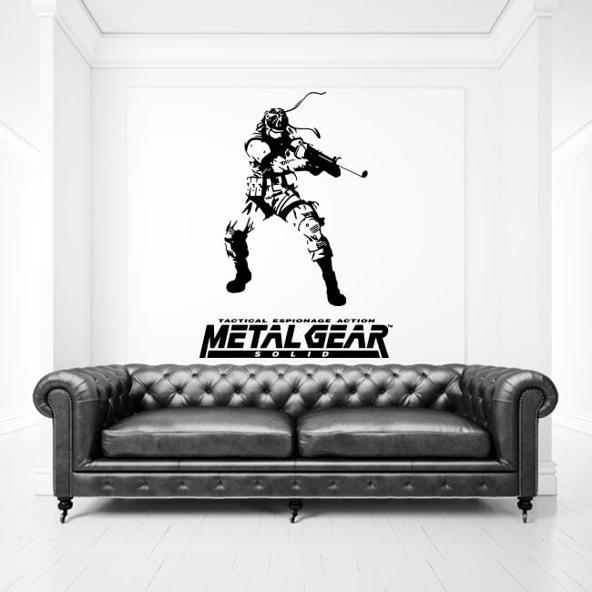 Vinilos y pegatinas videojuego metal gear