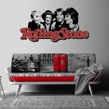 Vinilos y pegatinas banda de música rolling stone