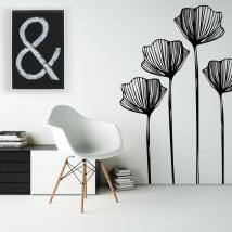 Pegatinas de vinilos flores para decorar