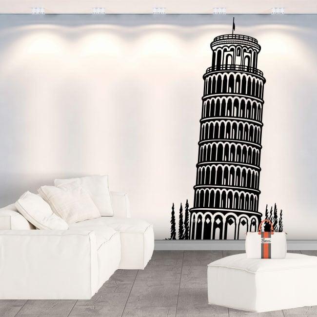 Vinilos decorativos y pegatinas torre de pisa