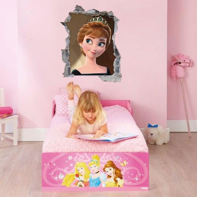 Vinilos disney frozen princesa anna 3d