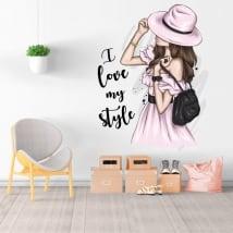 Vinilos adhesivos silueta mujer i love my style