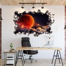Vinilo luna en espacio