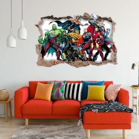 Vinilos decorativos 3d marvel superhéroe yellowjacket