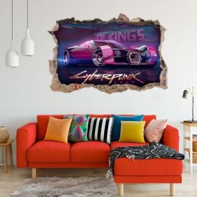 Vinilos decorativo coche 3d cyberpunk