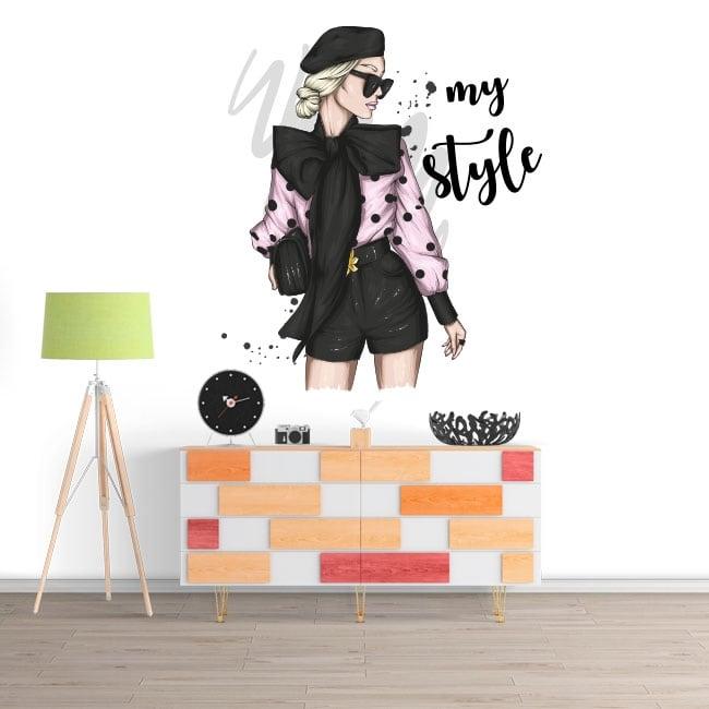 Vinilos decorativos mujer my style