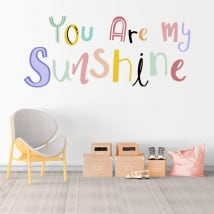 Vinilos frase inglés you are my sunshine