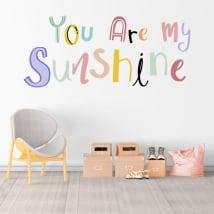 Vinilos frase inglés you are my sunshine