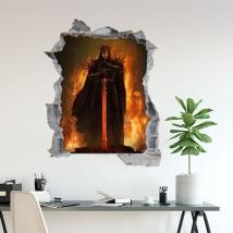 Vinilo señor de los anillos 3d nazgur