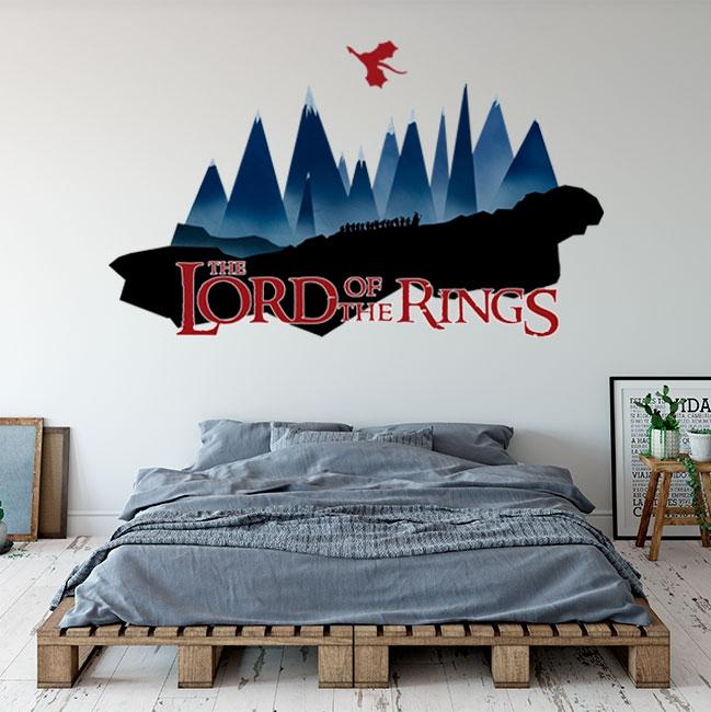 Vinilo adhesivo el señor de los anillos montaña