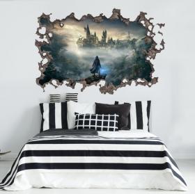 Vinilo 3d castillo de hogwarts harry potter