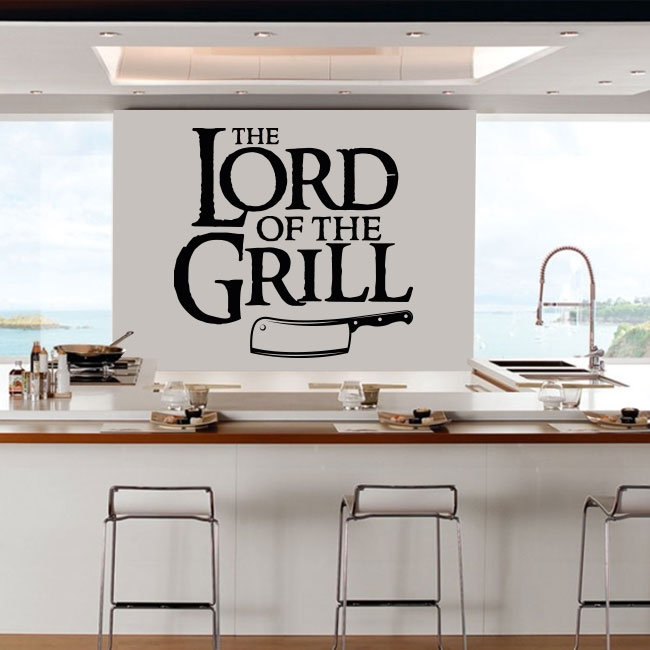 Vinilos y pegatinas frase the lord of the grill