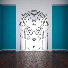 Vinilos puerta minas de moria el señor de los anillos