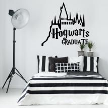 Vinilos decorativos harry potter hogwarts graduate