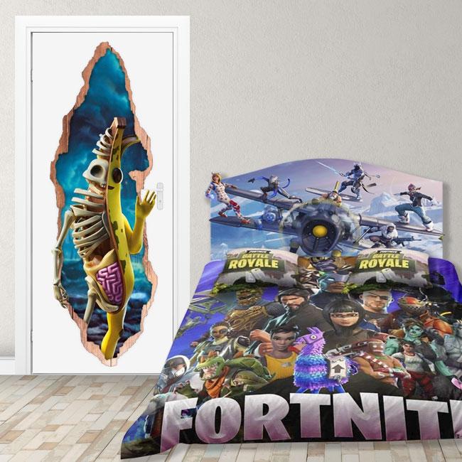 Vinilos puertas 3d videojuego fortnite