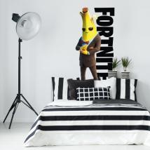 Vinilos decorativos banana videojuego fortnite